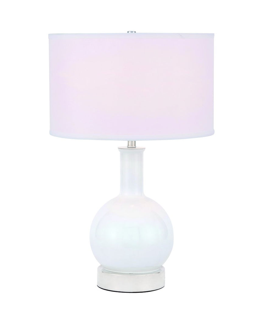 ZC121-TL3041PN - Regency Decor: Cory 1 light Polished Nickel Table Lamp