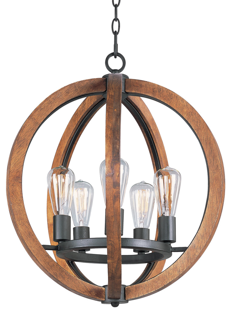 Bodega Bay 5-Light Chandelier Anthracite - C157-20917APAR