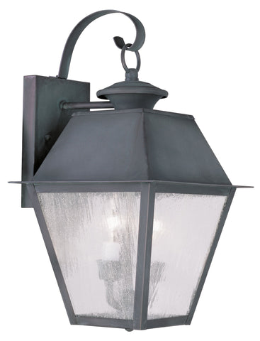 Livex Mansfield 2 Light Charcoal Outdoor Wall Lantern - C185-2165-61