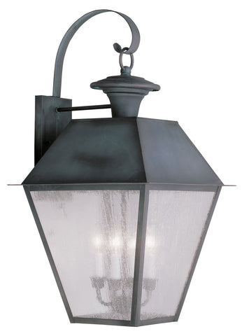 Livex Mansfield 4 Light Charcoal Outdoor Wall Lantern - C185-2172-61