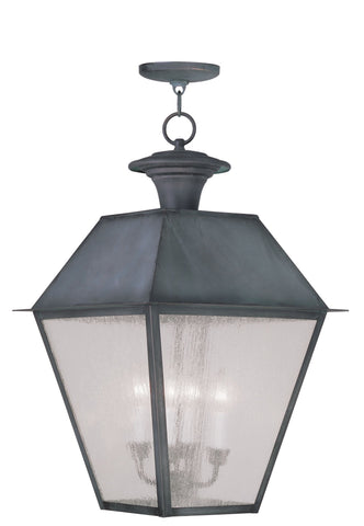 Livex Mansfield 4 Light Charcoal Outdoor Chain Lantern  - C185-2174-61