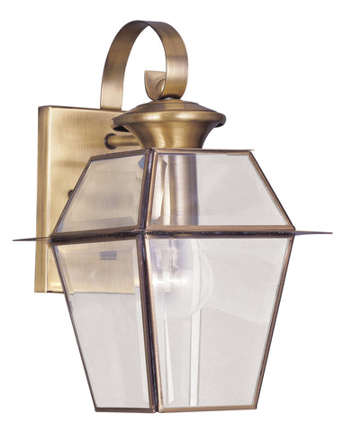 Livex Westover 1 Light AB Outdoor Wall Lantern - C185-2181-01