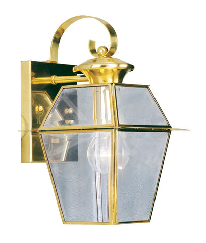 Livex Westover 1 Light PB Outdoor Wall Lantern - C185-2181-02