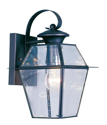 Livex Westover 1 Light Black Outdoor Wall Lantern - C185-2181-04