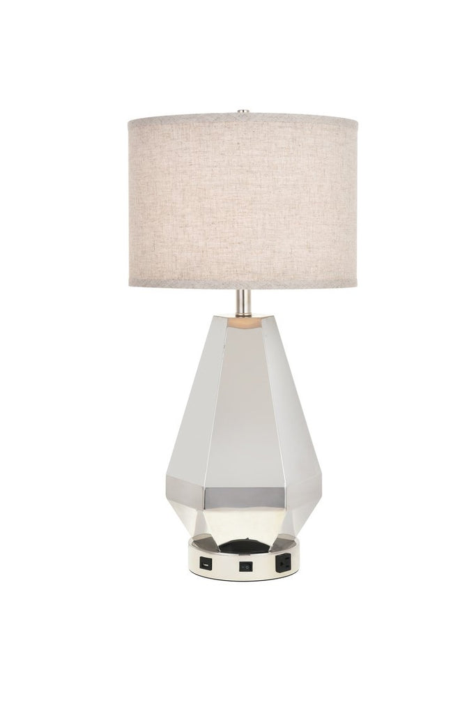 ZC121-TL3012 - Regency Decor: Brio Collection 1-Light Polished Nickel Finish Table Lamp