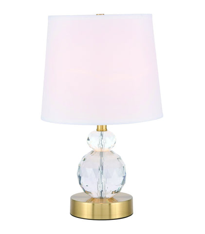ZC121-TL3031BR - Regency Decor: Maribelle 1 light Brass Table Lamp