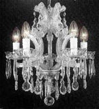 "Swarovski Crystal Trimmed Chandelier The Gallery Maria Theresa 4 Lights Chandelier H15"" X W15"" - A83-Silver/1536/4Sw"