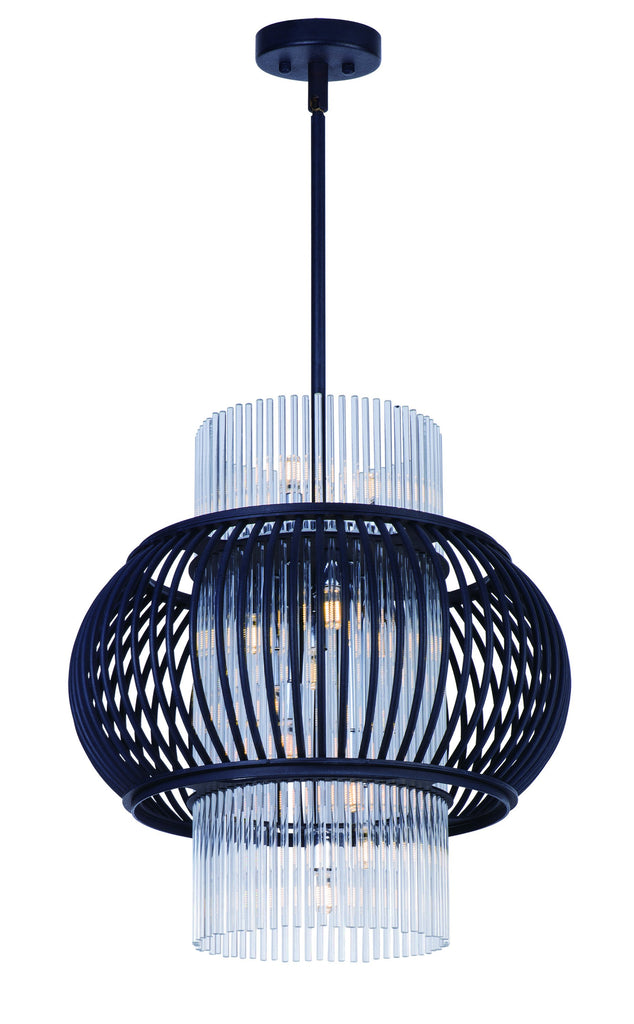 Aviary LED 13-Light Pendant Anthracite - C157-38386CLAR