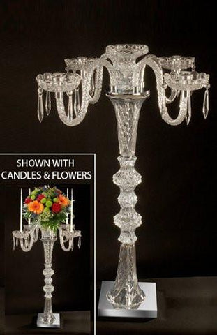 Set Of 10 Wedding Candelabras Candelabra Centerpiece Centerpieces - Set Of 10 - G9-Silver/722-Set Of 10
