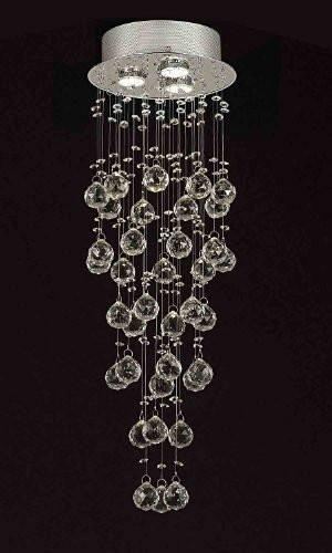 "Modern Contemporary Chandelier ""Rain Drop"" Chandeliers Lighting With 40Mm Crystal Balls H31""Xw10"" - F93-815/3"