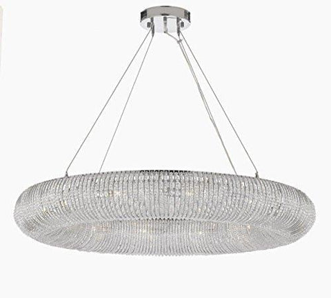 "Crystal Halo Chandelier Modern / Contemporary Lighting Floating Orb 41"" Wide - Good For Dining Room Foyer Entryway Family Room - Gb104-3132/12"