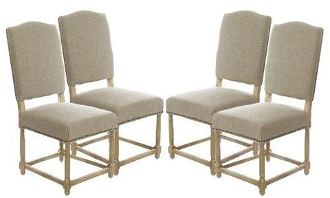 SET OF 4 (146.00ea) Empire Parsons Upholstered Side Chair Dining Chairs