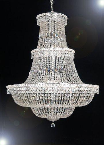 "Swarovski Crystal Trimmed Chandelier French Empire Crystal Chandelier Lighting H 50"" W 40"" - A93-Cs/454/18Sw"