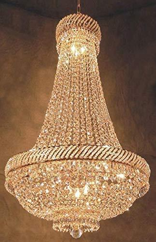 "French Empire Crystal Chandelier Chandeliers Lighting H46"" X W23"" - F93-C7/CG/448/9"