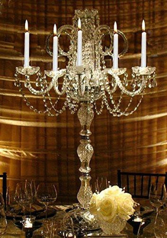 Set Of 10 Wedding Candelabras Candelabra Centerpiece Centerpieces - Great For Special Events - Set Of 10 - G46-545/5-Set Of 10