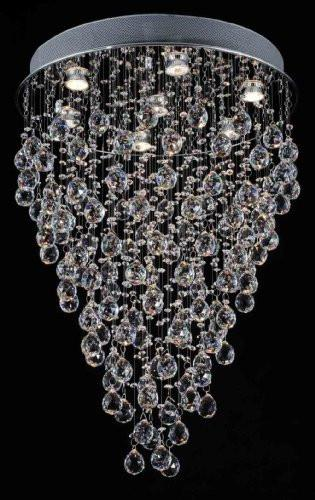 "Modern Contemporary Chandelier ""Rain Drop"" Chandeliers Lighting- Perfect For The Dining Room H30"" W24"" - F93-815/7"