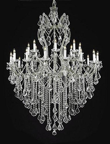 "Maria Theresa Chandelier Crystal Lighting Chandeliers Dressed With Empress Crystal (Tm) H 60"" W 46"" Great For Large Foyer / Entryway - G83-Cs/2/2007/24+1"