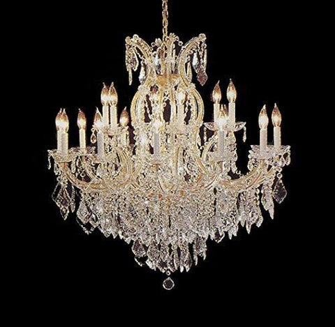 "Maria Theresa Crystal Chandelier Lighting Light Fixture Ceiling Lamp For Dining Room Entryway Living Room H38"" X W37"" - A83-1/21510/15+1"