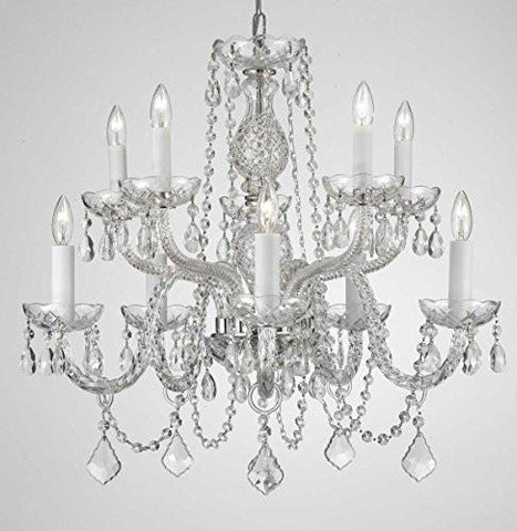 Swag plug in chandeliers gallery 67 swarovski crystal trimmed chandelier chandelier lighting dressed with swarovski crystal h 25 w 24 aloadofball Image collections