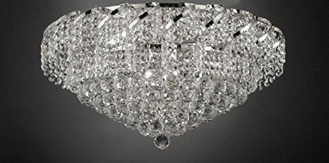 "French Empire Empress Crystal(Tm) Flush Chandelier Lighting H 13"" W 26"" - Cjd-Flush/Cs/2173/26"