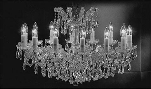 "Maria Theresa Chandelier Crystal Lighting Chandeliers Lights Fixture Pendant Ceiling Lamp For Dining Room Entryway Living Room H21"" X W31"" - A83-Cs/2489/14"
