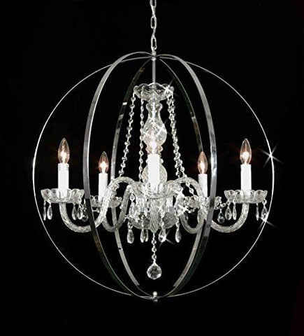 "Spherical Orb Crystal Chandelier Lighting H 27.5"" W 27.5"" - G46-B70/384/5"