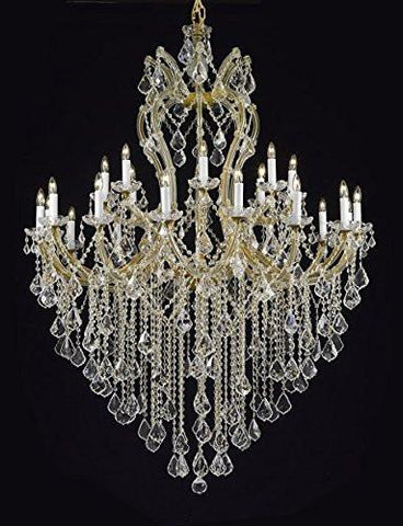 "Maria Theresa Chandelier Crystal Lighting Chandeliers Dressed With Empress Crystal (Tm) H 60"" W 46"" Great For Large Foyer / Entryway - G83-Cg/2/2007/24+1"