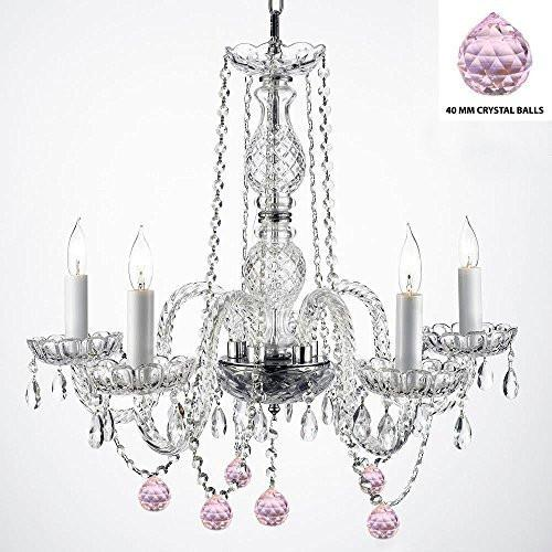 "Authentic Empress Crystal(Tm) Chandelier Lighting Chandeliers With Crystal Balls H25"" X W24"" - G46-B76/384/5"