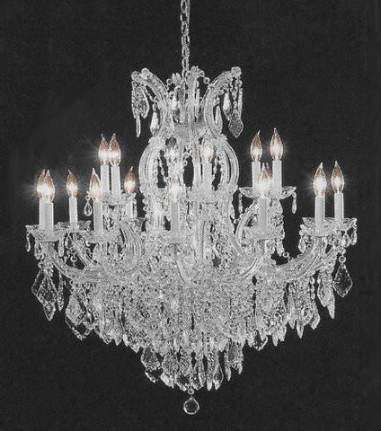 "Chandelier Crystal Lighting Empress Crystal (Tm) Chandeliers H38"" W37"" - A83-Silver/1/21510/15+1"