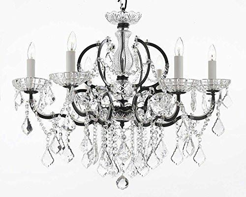 "Nineteenth C. Rococo Iron & Crystal Chandelier Lighting Dressed With Empress Crystal (Tm) H 25"" X W 26"" - G83-994/6"