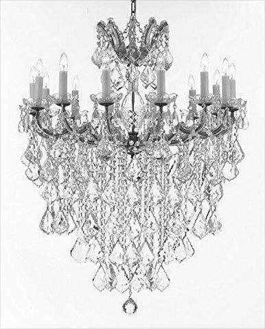 "Maria Theresa Chandelier Crystal Lighting Chandeliers Lights Fixture Pendant Ceiling Lamp For Dining Room Entryway Living Room H 36"" X W 31"" - A83-B13/B7/Cs/2489/14"