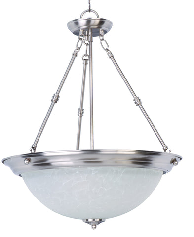 Essentials 3-Light Invert Bowl Pendant Satin Nickel - C157-5846ICSN