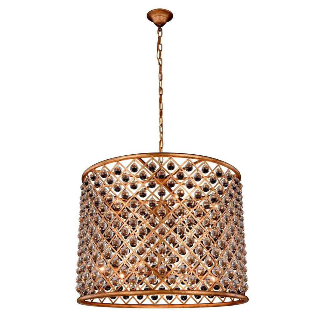 ZC121-1204D35GI/RC - Urban Classic: Madison 12 light Golden Iron Chandelier Clear Royal Cut Crystal
