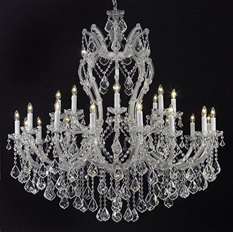 "Maria Theresa Chandelier Crystal Lighting Chandeliers Dressed With Empress Crystal (Tm) H 44"" W 46"" Great For Large Foyer / Entryway - G83-Cs/2007/24+1"