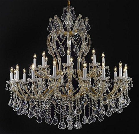 "Maria Theresa Chandelier Crystal Lighting Chandeliers Dressed With Empress Crystal (Tm) H 44"" W 46"" Great For Large Foyer / Entryway - G83-Cg/2007/24+1"