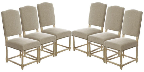 SET OF 6 (146.00ea) Empire Parsons Upholstered Side Chair Dining Chairs
