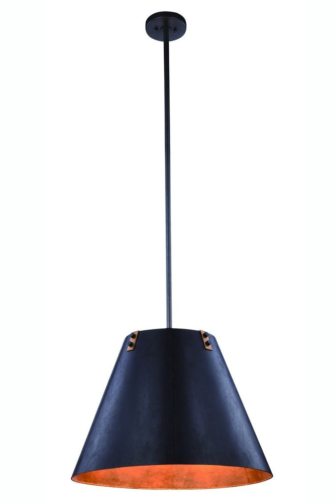 ZC121-1483D24VB - Urban Classic: Chesapeake 3 light Vintage Bronze&Golden Iron Pendant