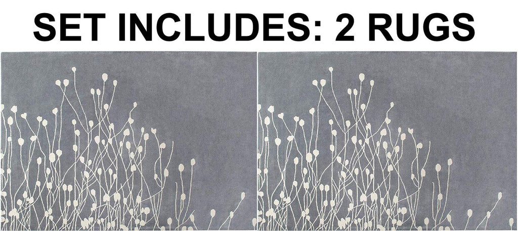 Set of 2 - Floral Hand-Tufted Transitional Contemporary Wool Rug Area Rug 5 X 7 - 2EA J10-IN-201-5X7