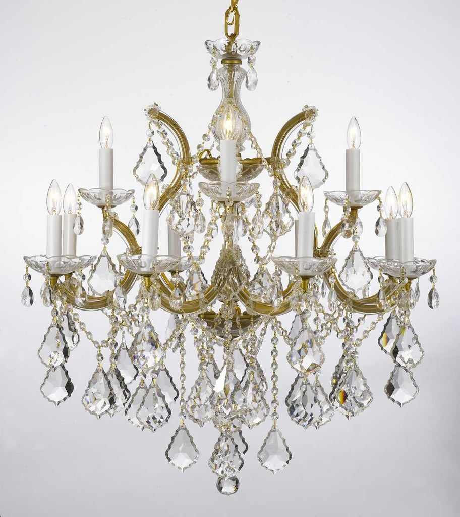 "Chandelier Lighting Crystal Chandeliers H30""X W28"" - F83-Gold/B7/21532/12+1"