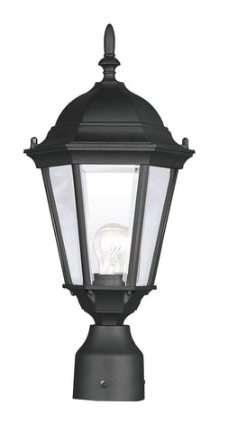 Livex Hamilton 1 Light Black Outdoor Post Lantern - C185-7558-04