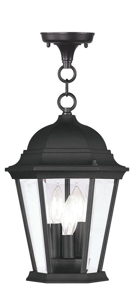 Livex Hamilton 3 Light Black Chain Lantern - C185-7564-04