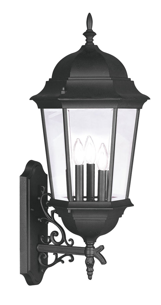 Livex Hamilton 3 Light Black Outdoor Wall Lantern - C185-7566-04