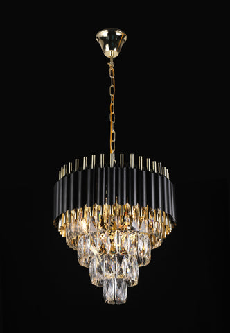 "Retro Palladium Empress Crystal (Tm) Glass Fringe 4 Tier Chandelier Lighting W 19.7"" x H 18.9"" - Great for Entryway/Foyer, Living Room, Family Room, and More! Limited Edition - G7-76211/8"