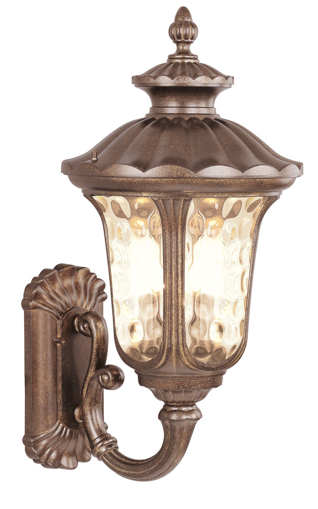 Livex Oxford 3 Light MG Outdoor Wall Lantern - C185-7656-50