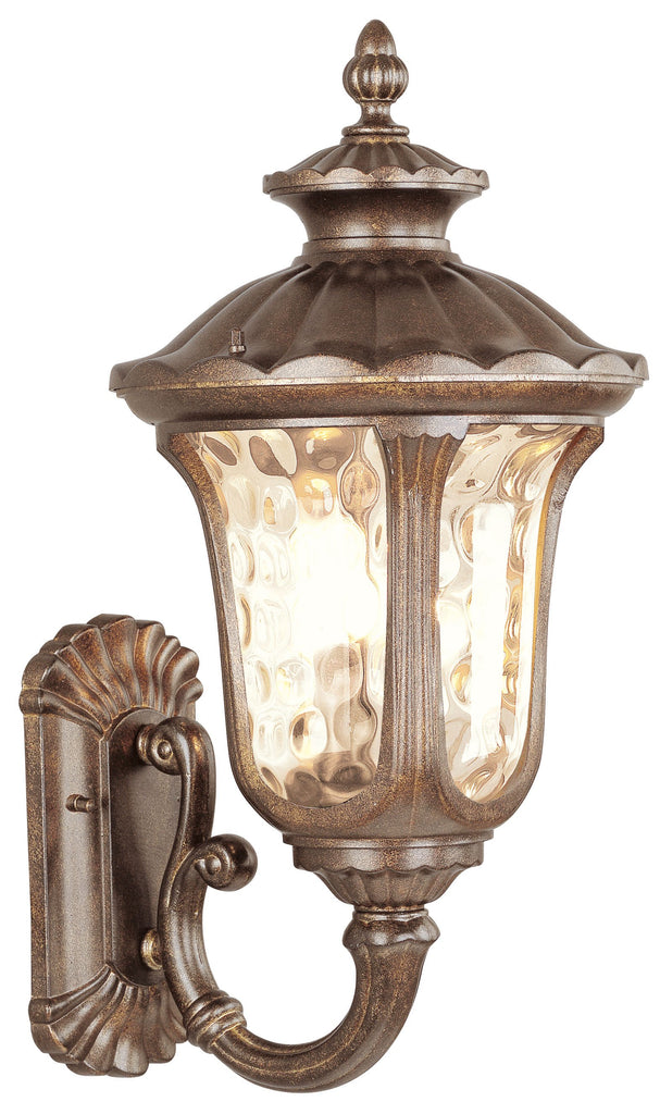 Livex Oxford 3 Light MG Outdoor Wall Lantern - C185-7662-50