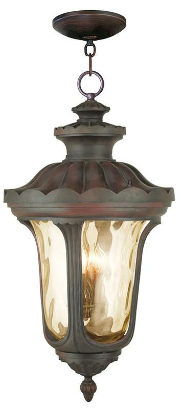 Livex Oxford 4 Light IB Outdoor Chain Lantern  - C185-76703-58