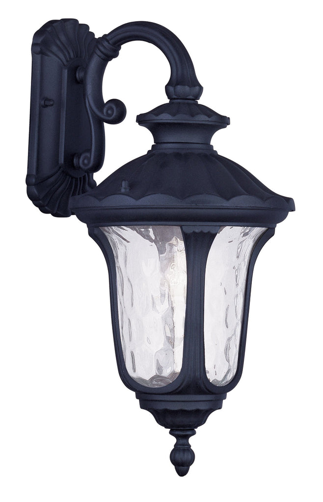 Livex Oxford 1 Light Black Outdoor Wall Lantern - C185-7853-04