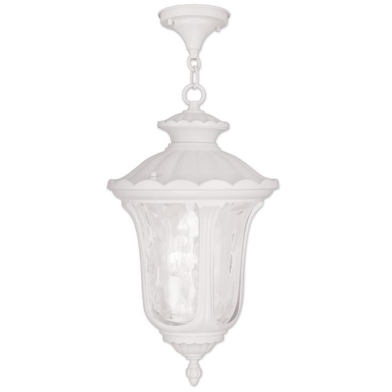 Livex Oxford 3 Light White Chain Lantern - C185-7858-03