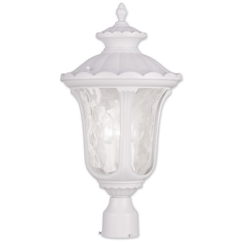 Livex Oxford 3 Light White Outdoor Post Lantern - C185-7859-03