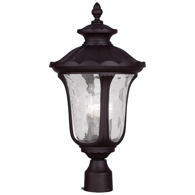 Livex Oxford 3 Light Bronze Outdoor Post Lantern - C185-7859-07